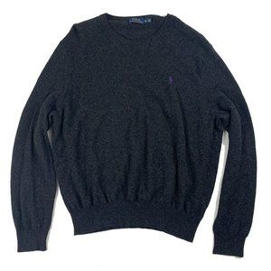 Polo Ralph Lauren Merino Wool Gray Crewneck Sweate
